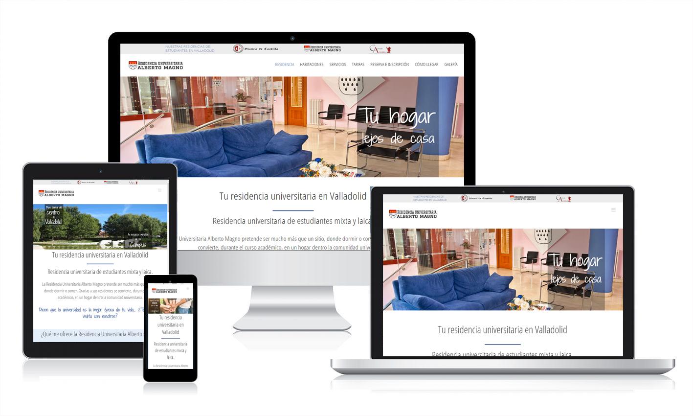 Diseño de web adaptativo en Valladolid para residencias universitarias