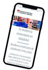 Diseño responsive en móvil en Valladolid para residencia universitaria