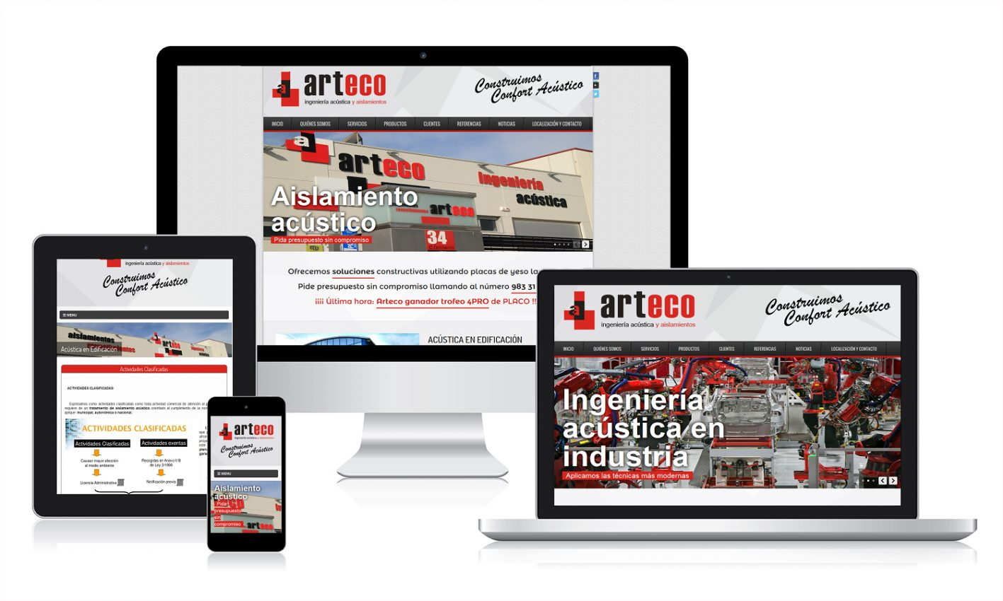 Desarrollo de página web para Arteco
