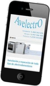 Diseño web responsive para Avelectro