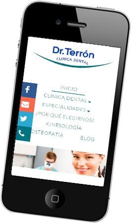 Desarrollo web Clínica Dental Dr. Terrón