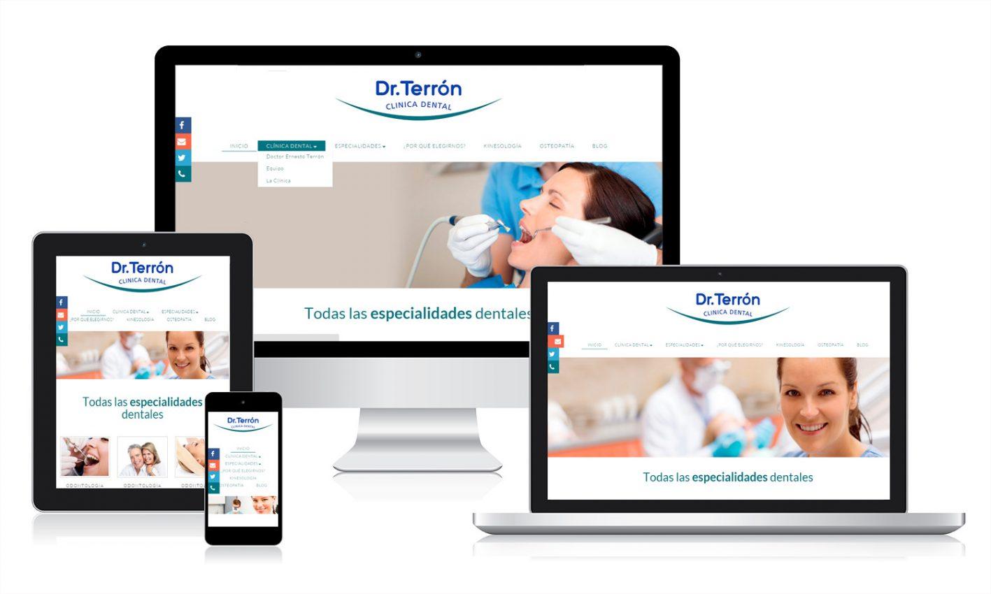 Desarrollo página web para Dr. Terrón Clínica Dental