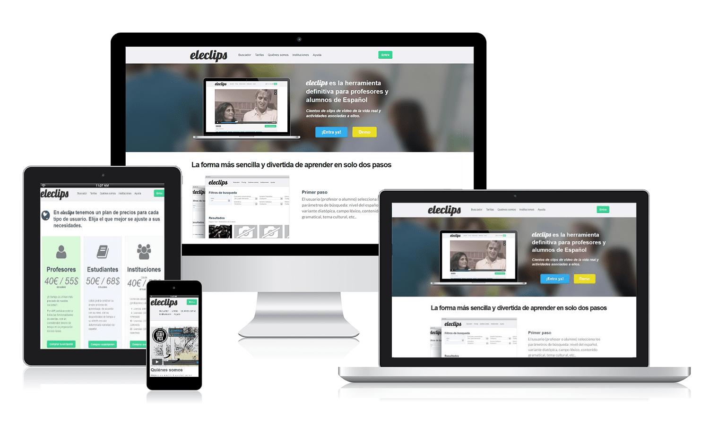 Desarrollo página web Eleclips