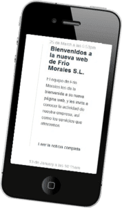 Desarrollo web responsive para Frío Moraless