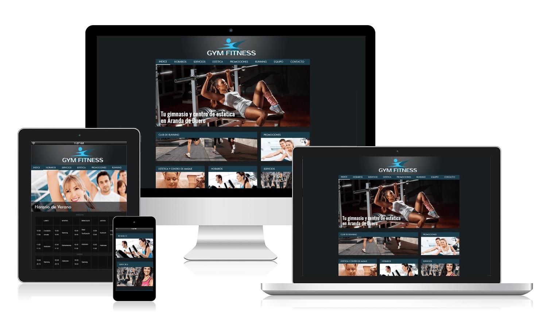 Desarrollo página web para Gym Fitness