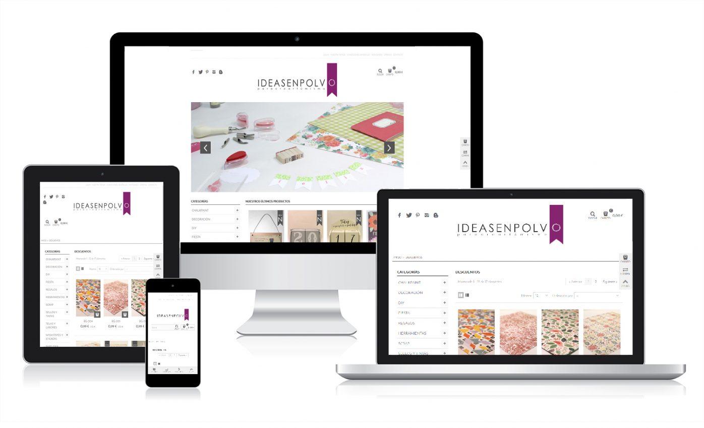 Diseño web para Ideas en Polvo