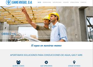 Diseño web para Sane Riego