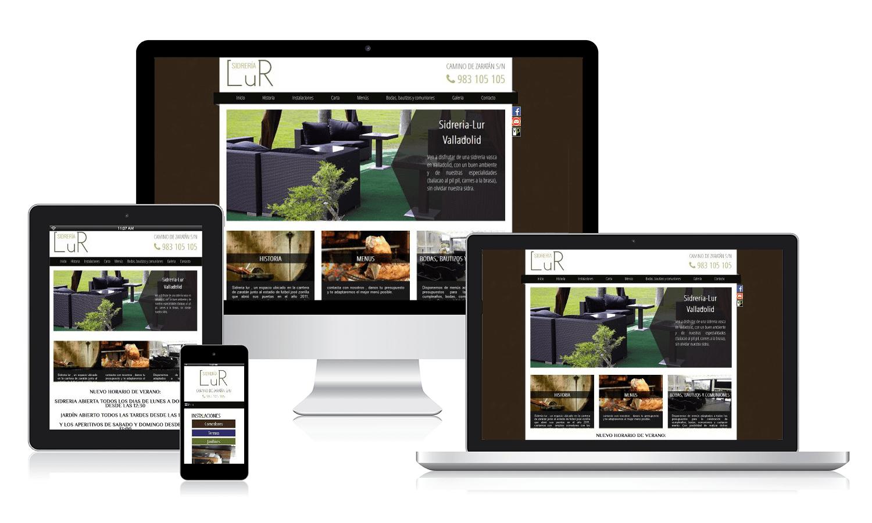 Diseño web para Sidería Lur