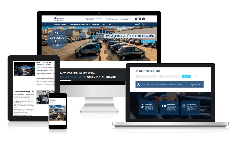 Desarrollo web para Automóviles Gabilondo