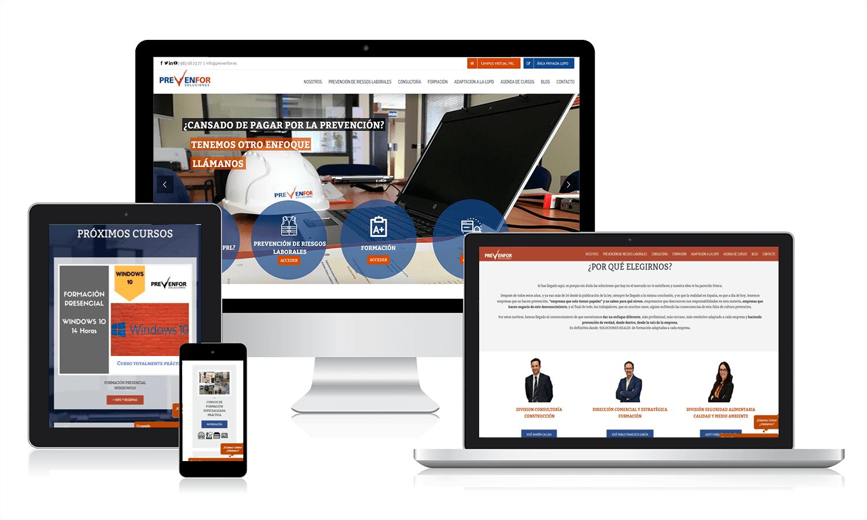 Diseño página web para Prevenfor