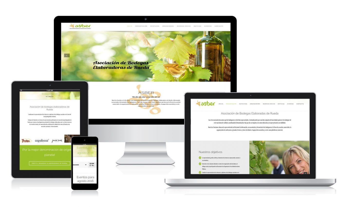 Diseño página web para Asber