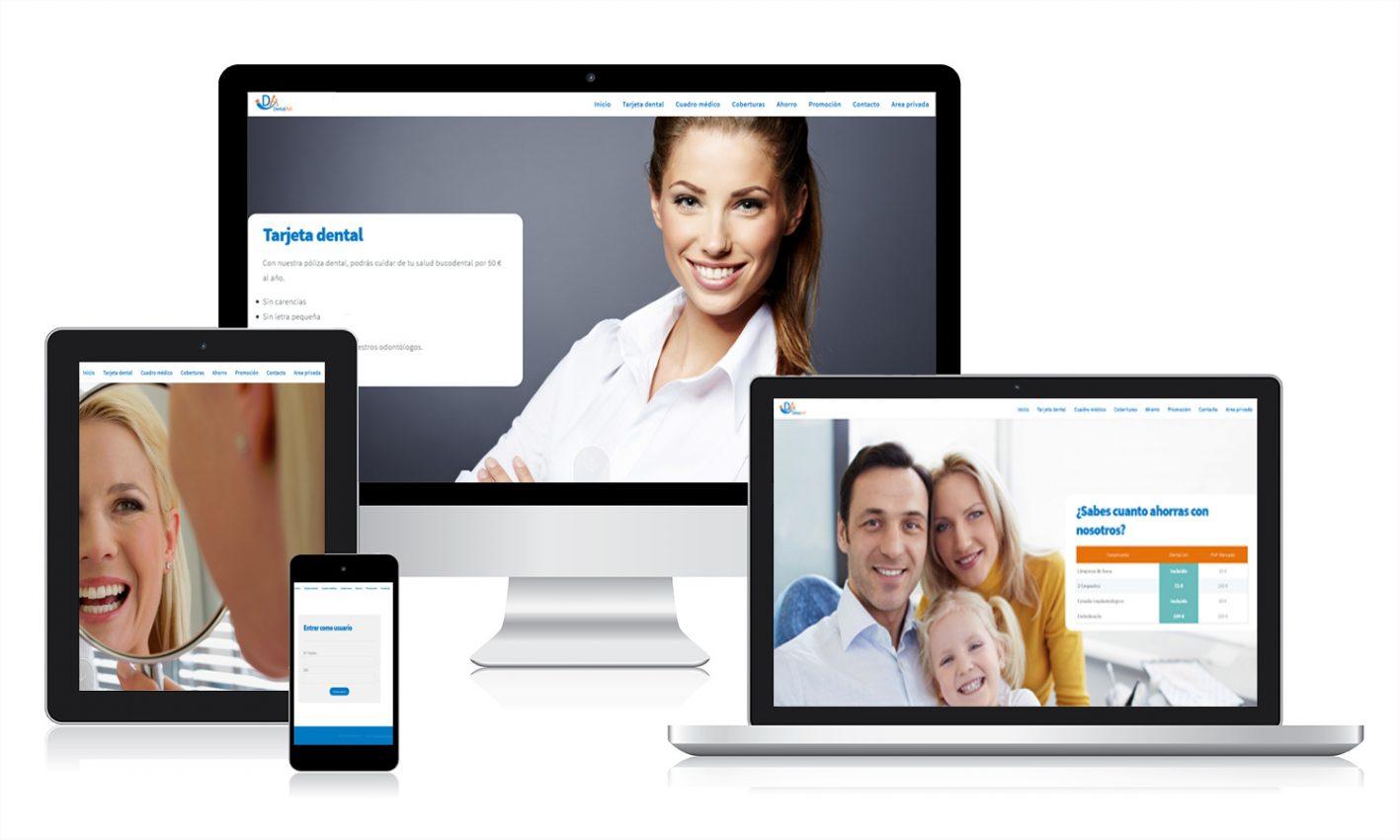 Desarrollo página web para Dentalart