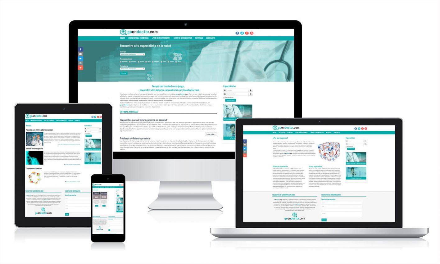 Desarrollo de la plataforma online Go On Doctor