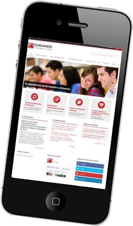 Desarrollo web Cuidando Formación