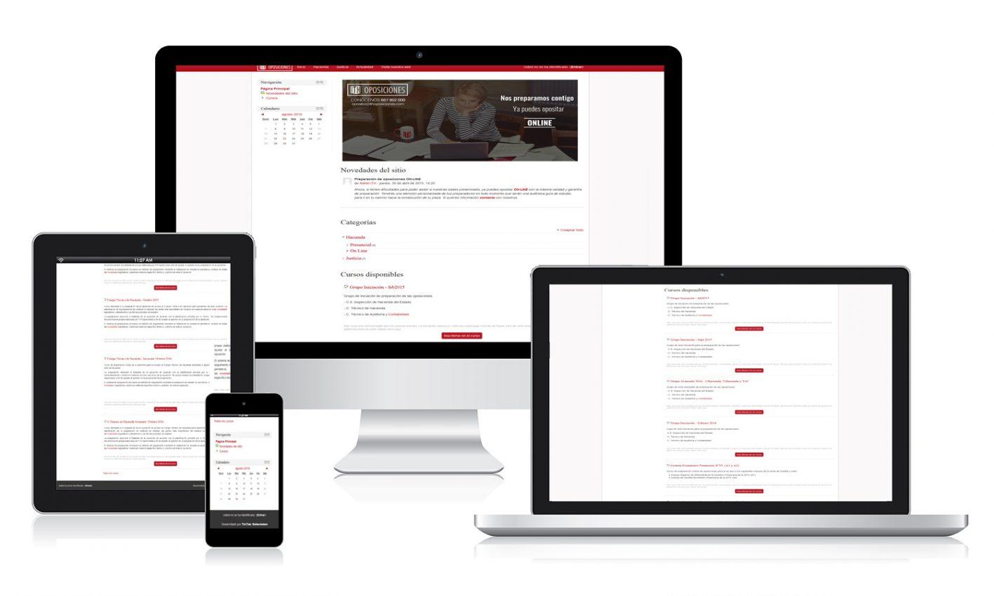 Desarrollo página web ITH Oposiciones