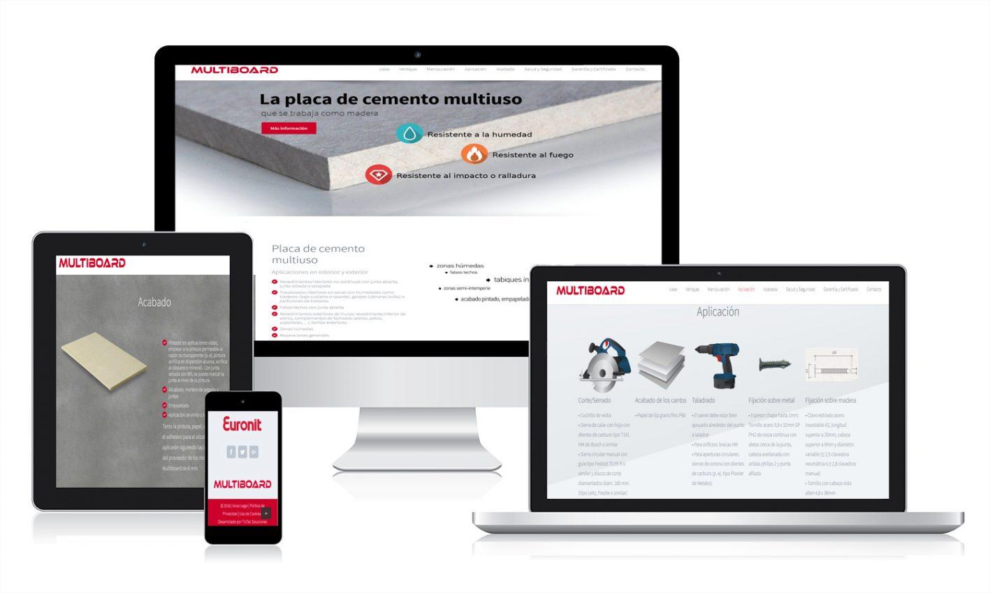 Desarrollo web para Multiboard