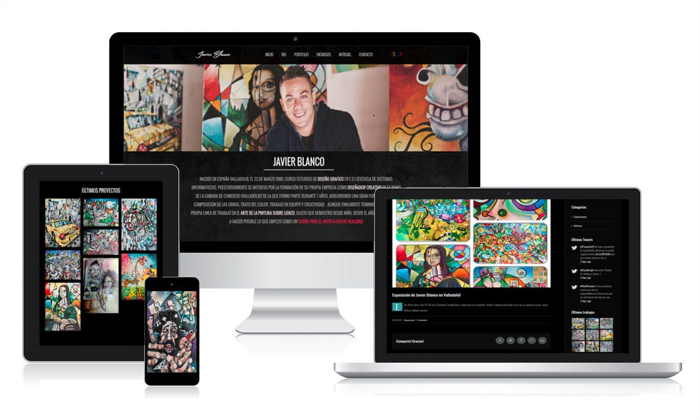 Desarrollo página web Javier Blanco pinto