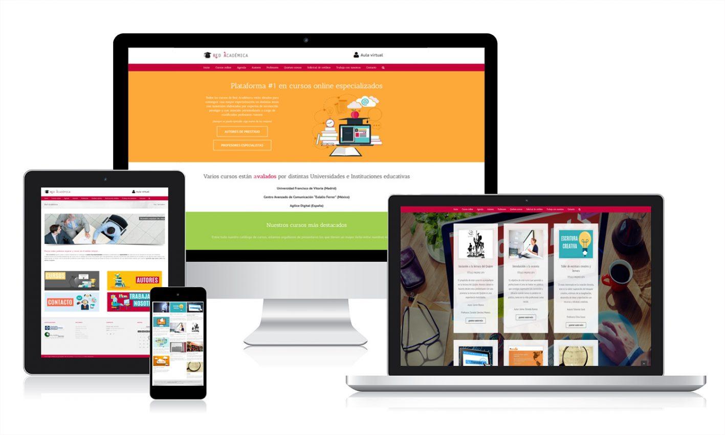 Desarrollo página web Red Académica