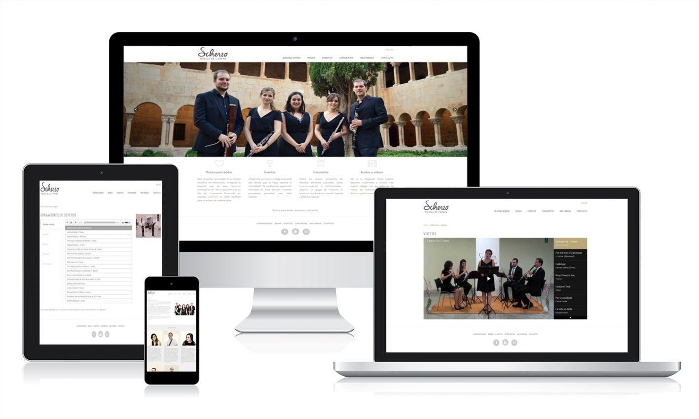 Diseño web para Scherzo