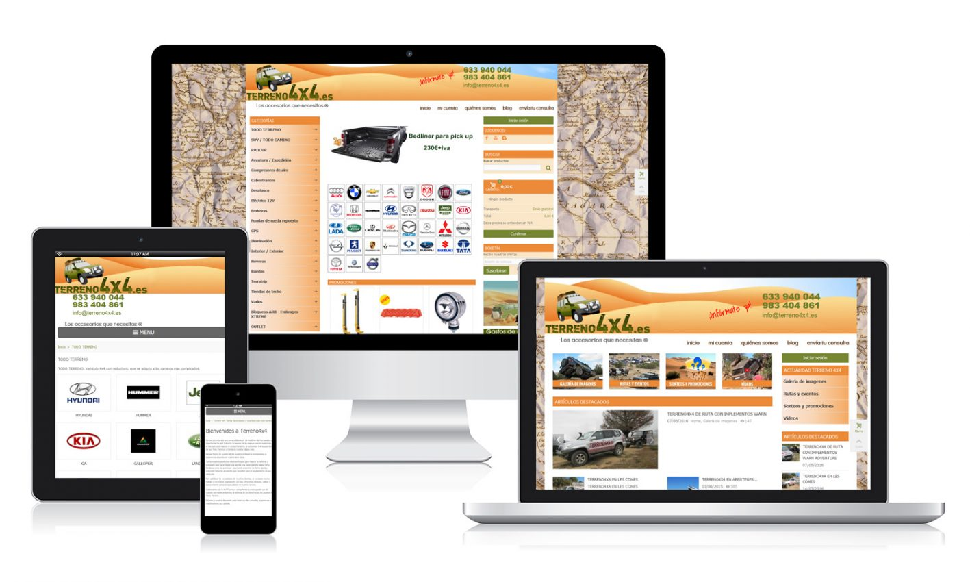 Desarrollo página web para Terreno 4x4
