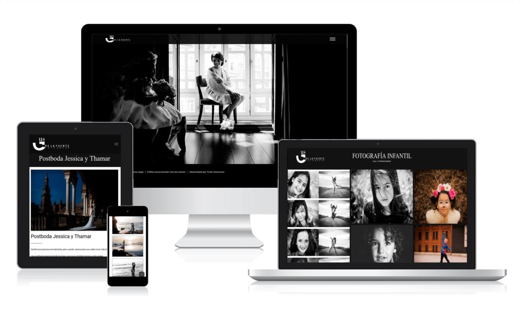 Diseño de página web para Gus de la Fuente, fotógrafo