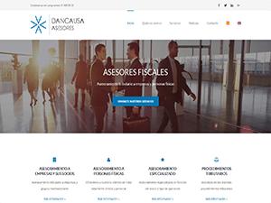 Página web Corporativa multilingüe para Dancausa Asesores Fiscales