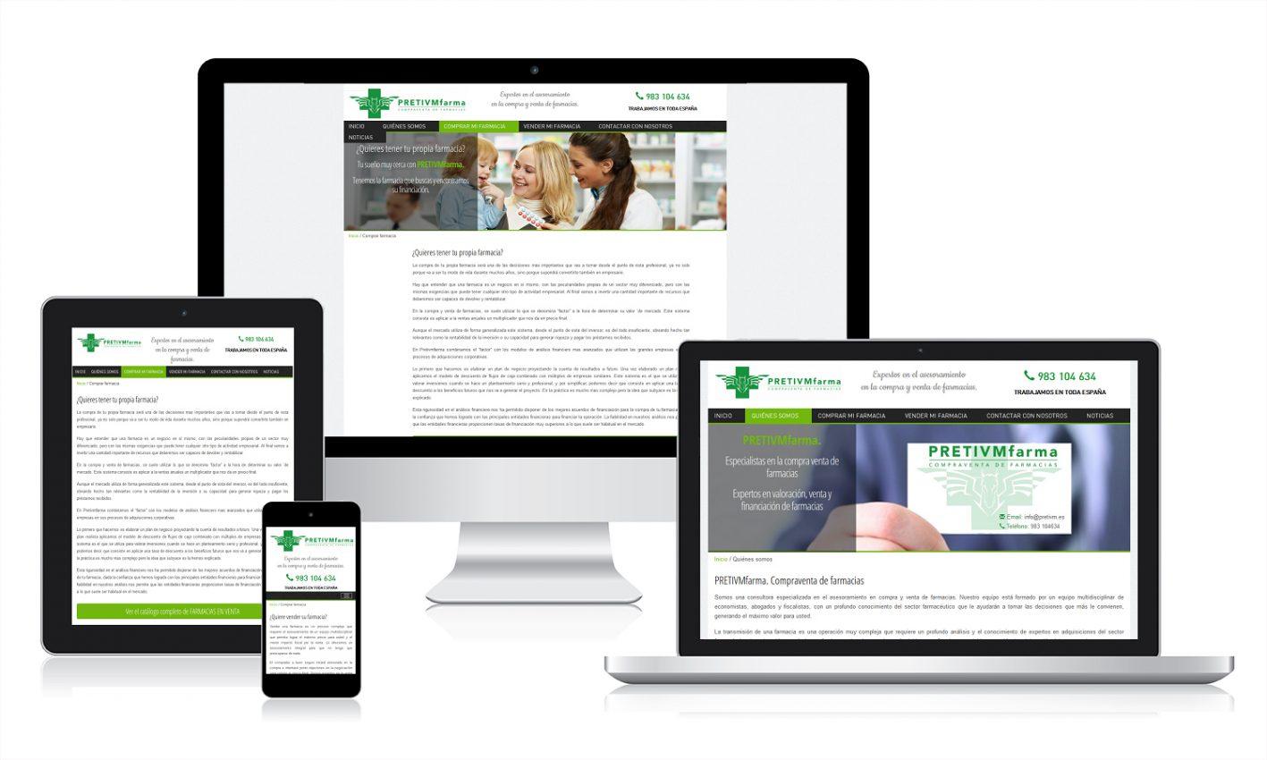 Desarrollo web para pretivm farma