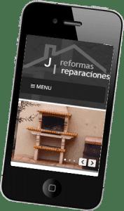 Diseño web responsive para Reformas JI