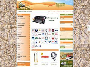 Desarrollo tienda online para Terrano 4x4