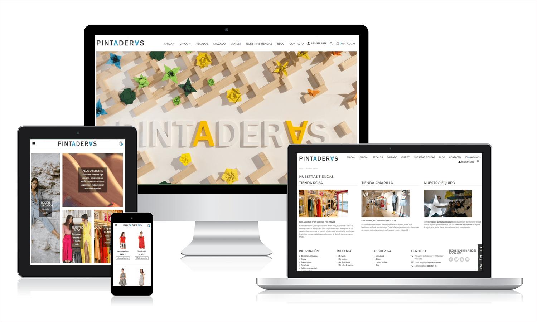 a635ac2676 Diseño de Tienda online de ropa y complementos para Pintaderas