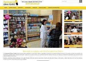 Diseño página web Farmacia Gran Teatro