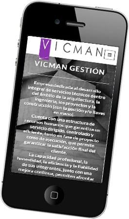 Desarrollo web para Vicman Gestión