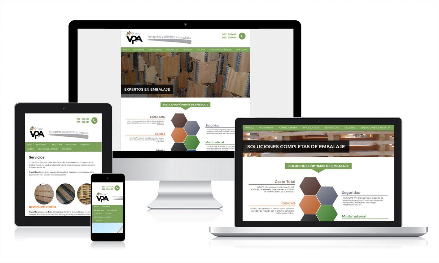 Diseño página web para Grupo VPA
