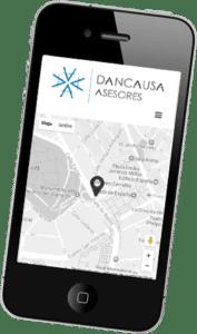 Desarrollo web Corporativa multilingüe para Dancausa Asesores Fiscales