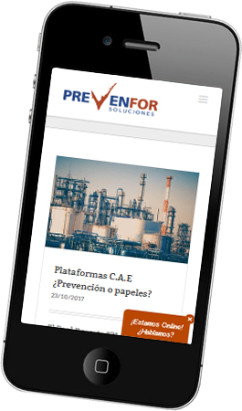 Desarrollo página web Prevenfor