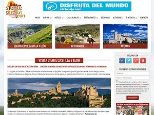 Diseño página web para Siente Castilla y León