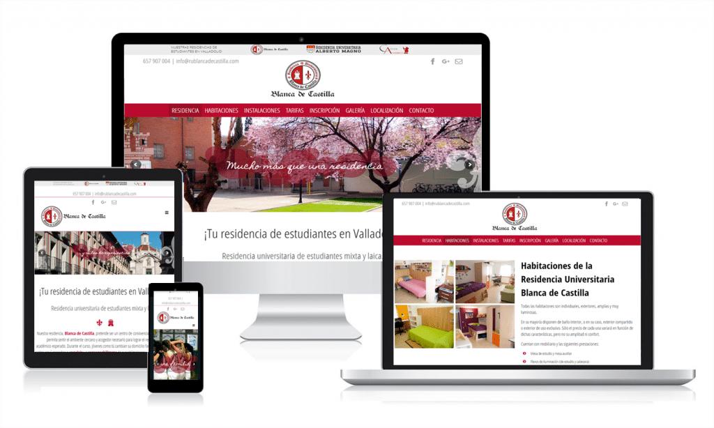 Diseño de página web responsive en Valladolid para Blanca de Castilla