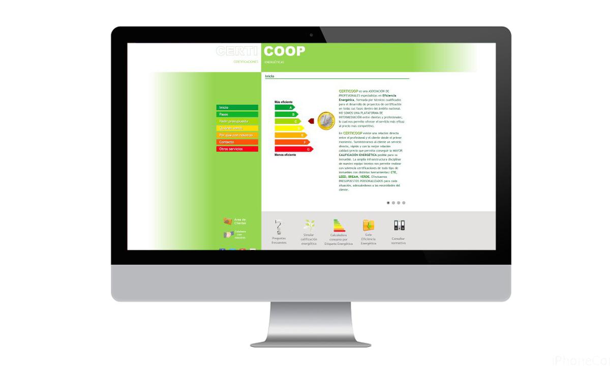 Desarrollo web para Certicoop