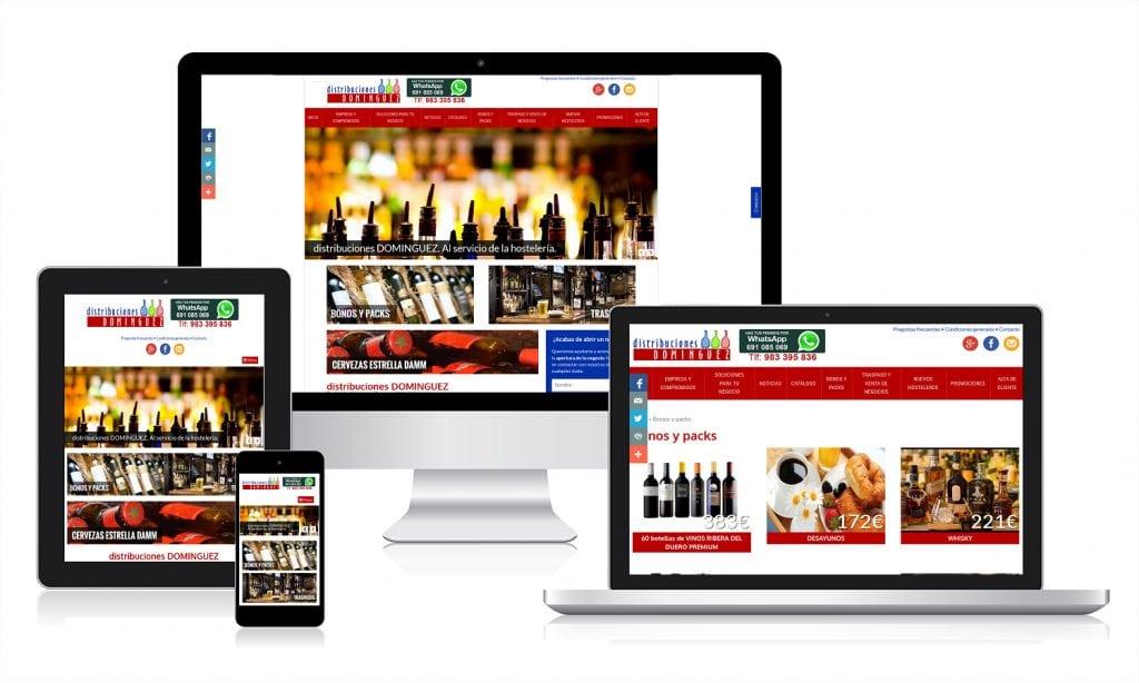 Diseño Web para Distribuciones Dominguez
