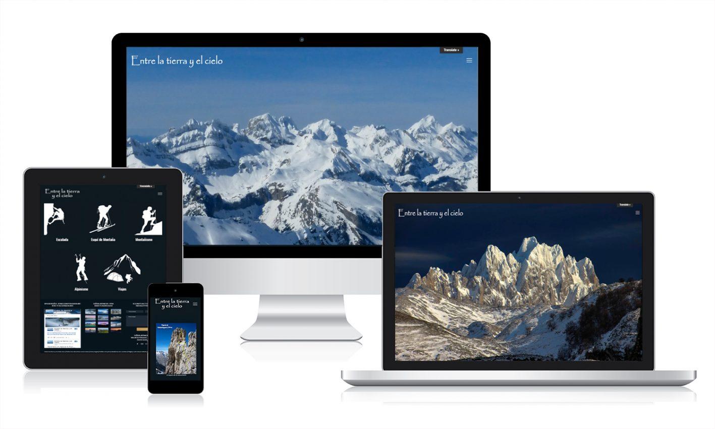 Diseño de página web responsive en diferentes pantallas en Valladolid