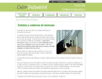 Diseño web para Calor Valladolid