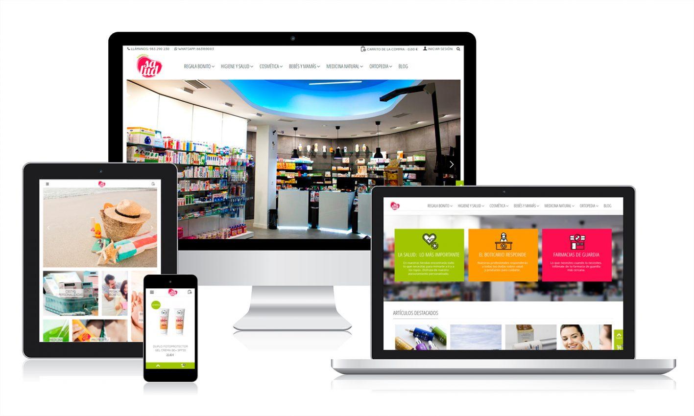 Diseño tienda online para Mi farmacia salud