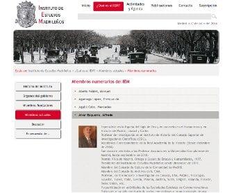 Diseño página web para el Instituto de Estudios Madrileños