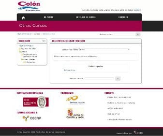 Diseño web para Colón Formación