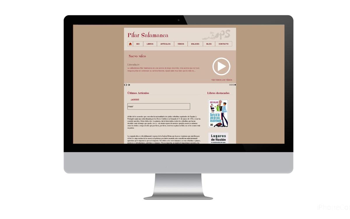Diseño web para Pilar Salamanca