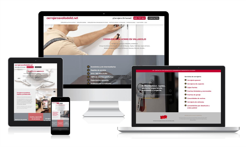 Diseño web responsive en diferentes pantallas en Valladolid
