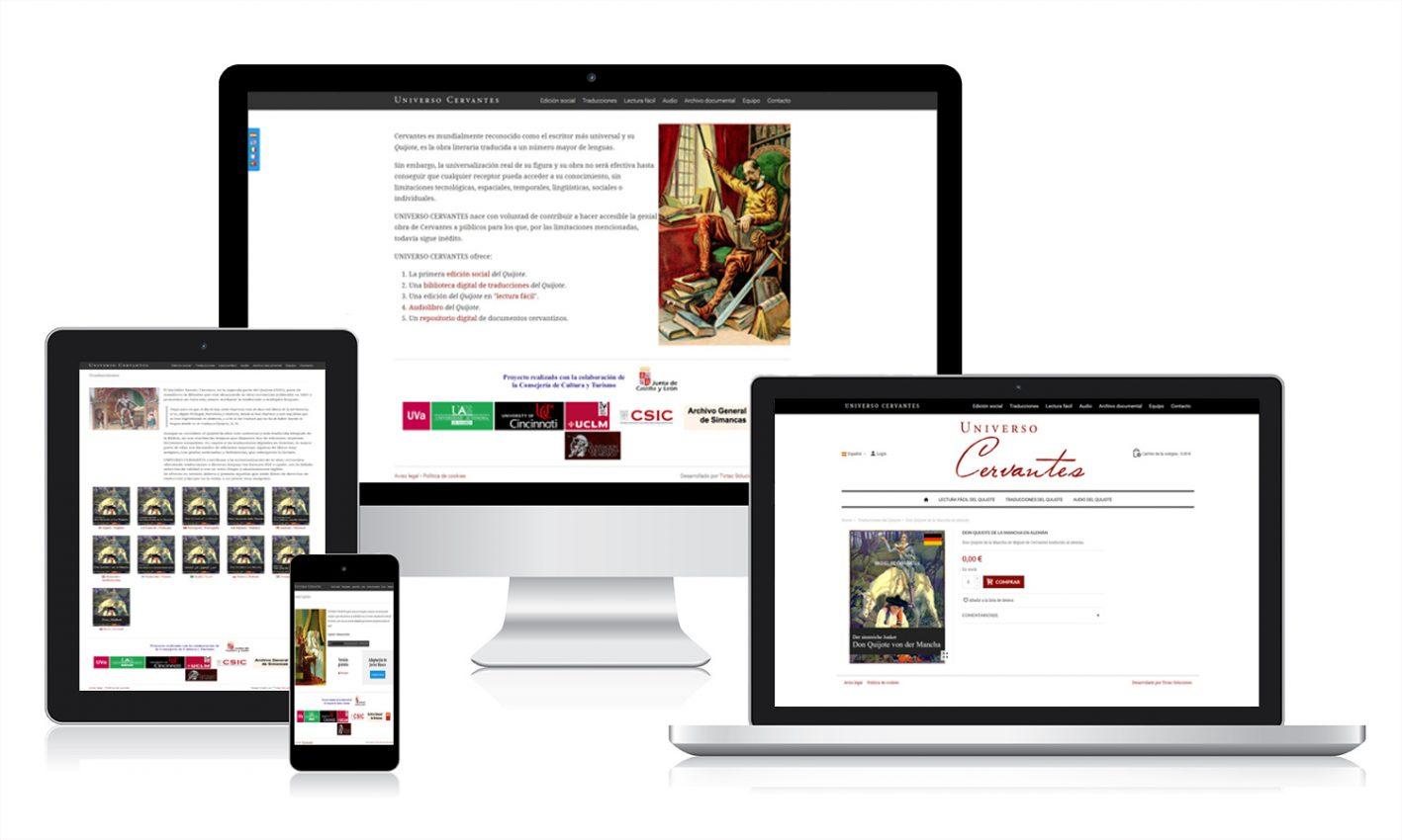 Diseño web para Universo Cervantes
