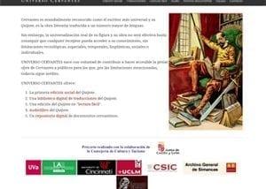Desarrollo web para Universo Cervantes