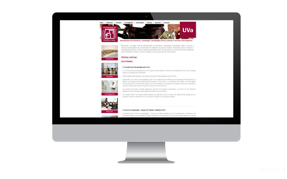 Desarrollo página web para el Departamento de Filosofía UVA