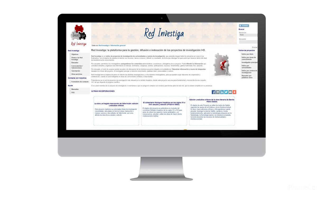 Diseño web para Red Investiga